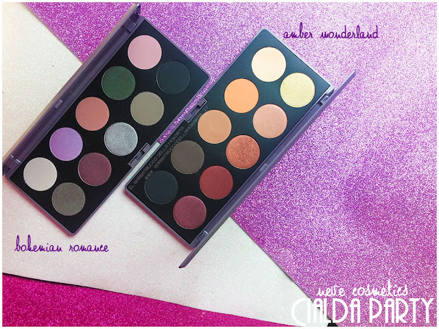 amber wonderland bohemian romance palette neve cosmetics cialda party review recensione makeup