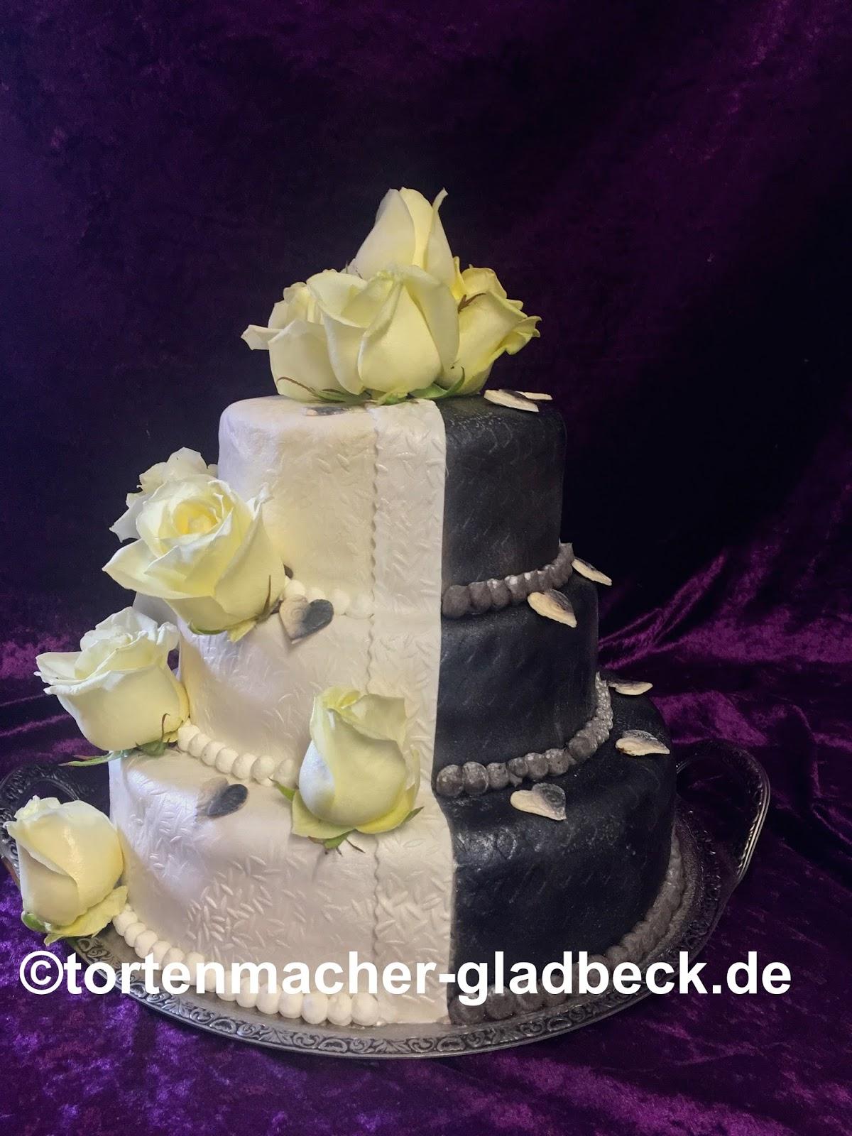 Der Tortenmacher Gladbeck Hochzeitstorte Schwarzweiss