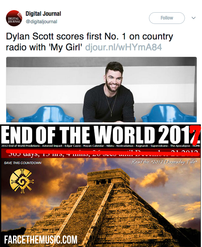 Farce the Music Monday Morning Memes Murder, Country Charts, Dylan
