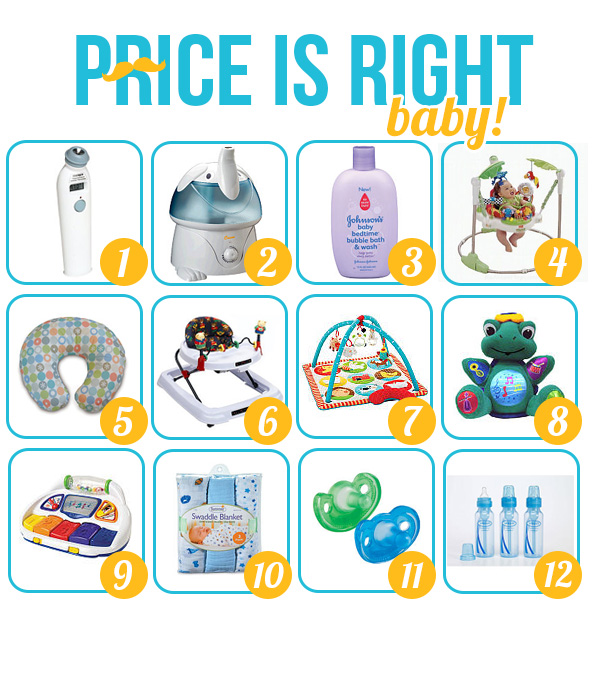 the price is right baby shower game template