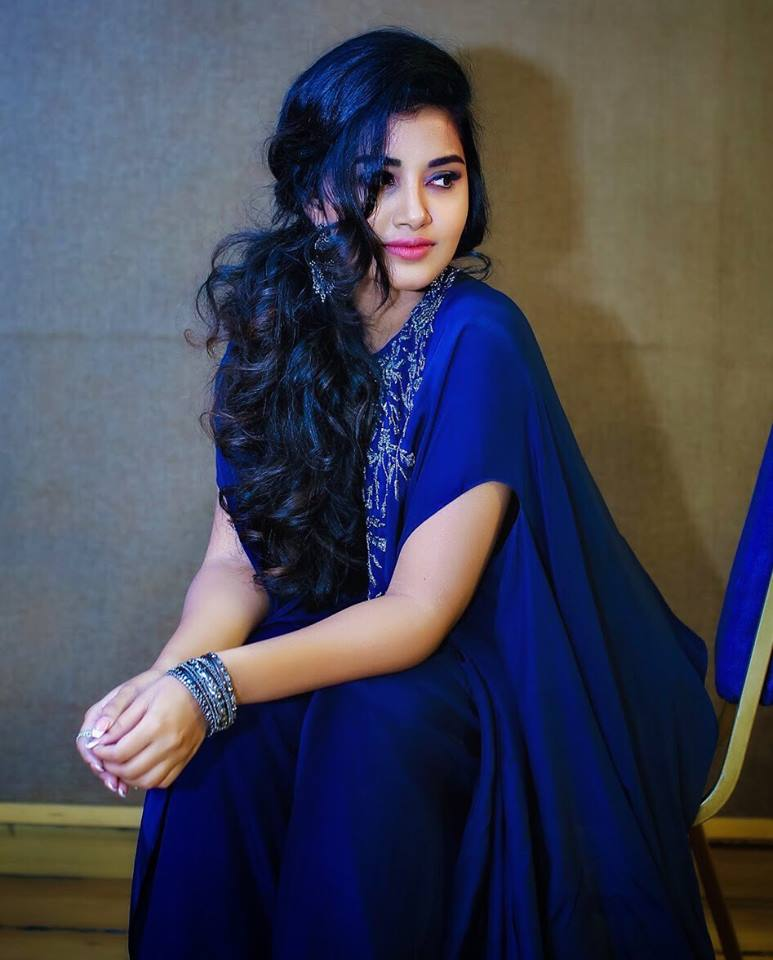 Anupama Parameswaran Latest Photos In Blue Dress Full Hd Wallpapers