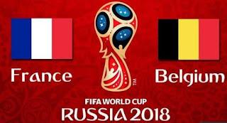 Jadwal Piala Dunia Selasa 10 Juli 2018 - Semifinal Prancis vs Belgia