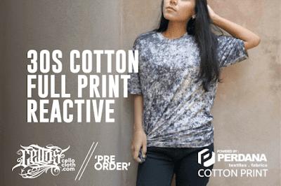 Kaos Polos Cotton Print Reactive Kualitas Handsfeel yang Ekslusif