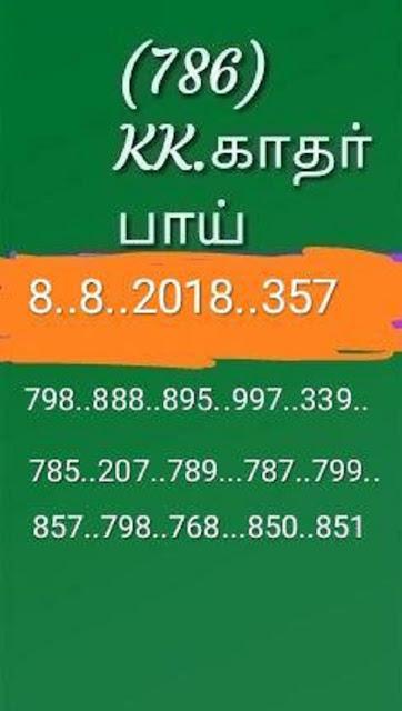 kerala lottery abc guessing akshaya AK-357 on 08.08.2018 by KK