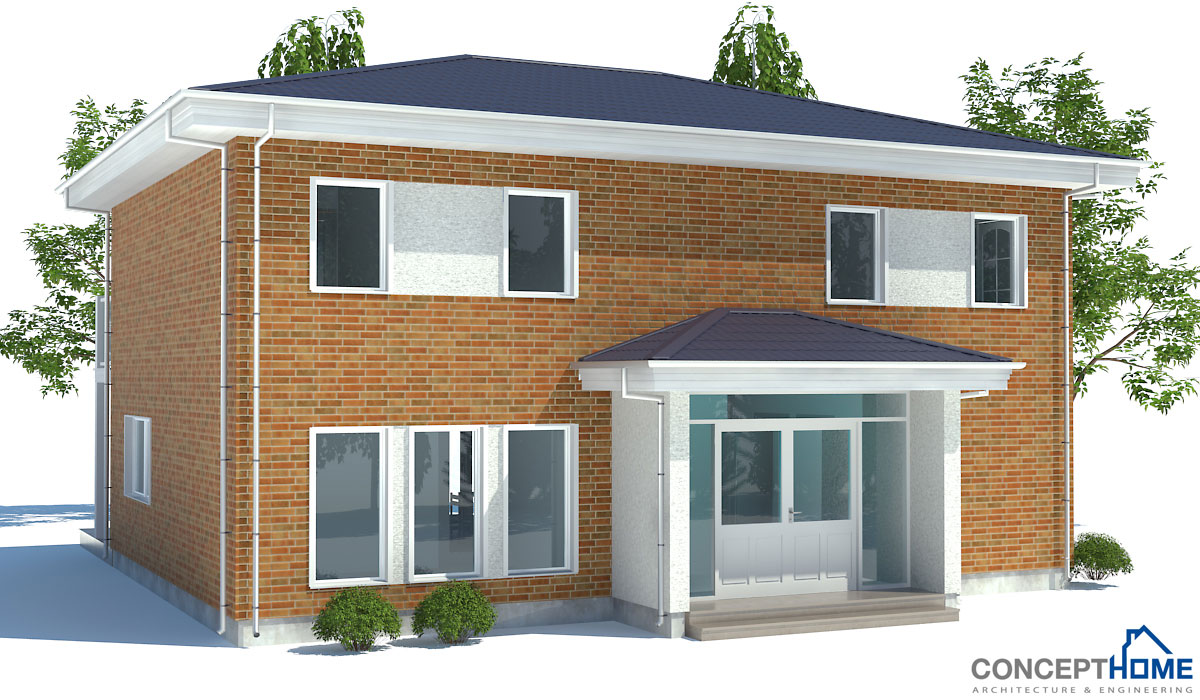 Contemporary house plans small modern house ch175 - Small modern home designs ...