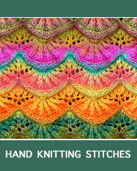 Learn Alsacian Scallop Lace Pattern with our easy to follow instructions at HandKnittingStitches.com