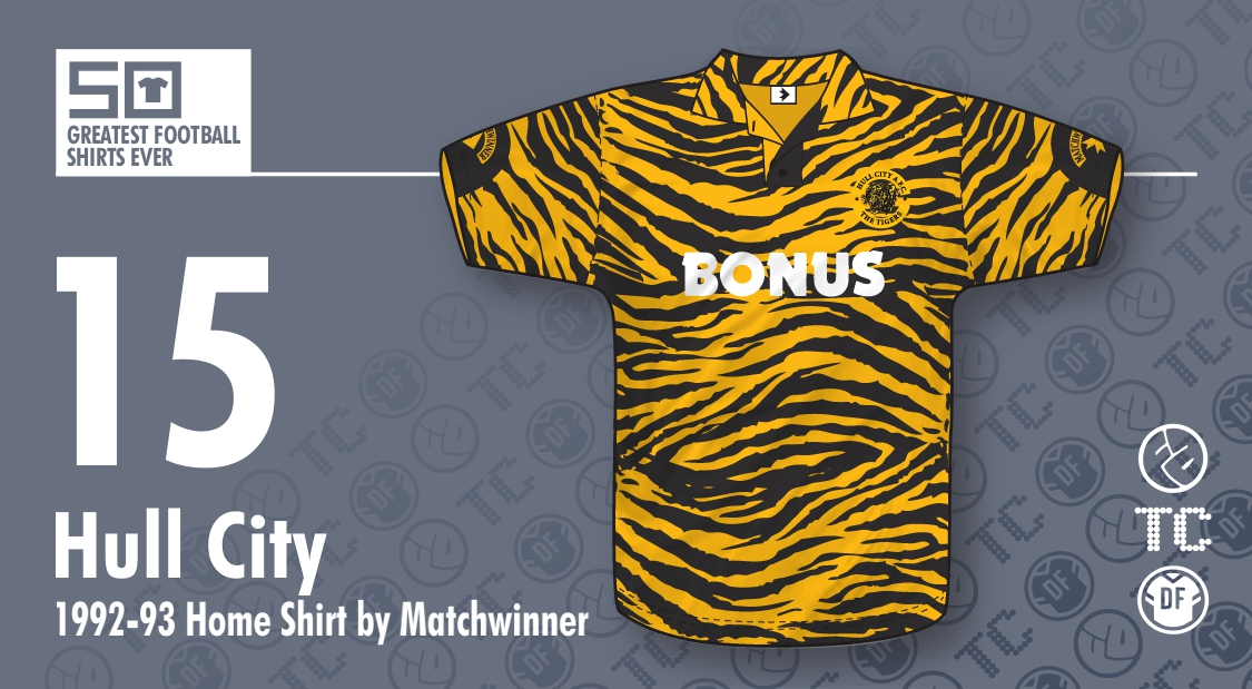 The 50 Greatest Football Shirts Ever   15 - Hull City 1992-93 Home ... c3d548265
