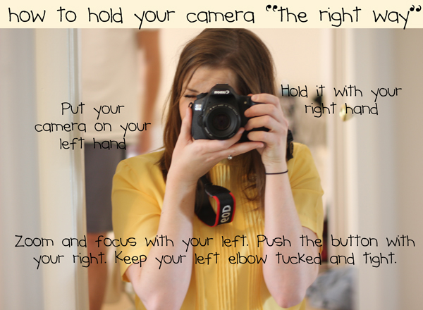 How to hold your DSLR camera ? - Risphotograph