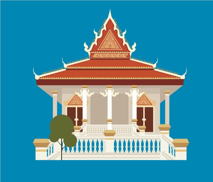 Pagoda+Kbach+khmer+Wat+PNG