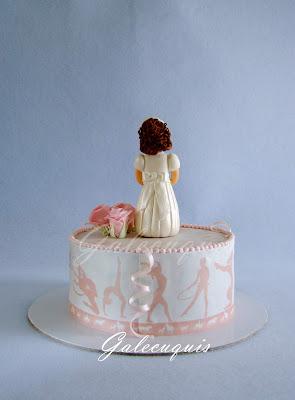 tarta cubierta papel de azúcar