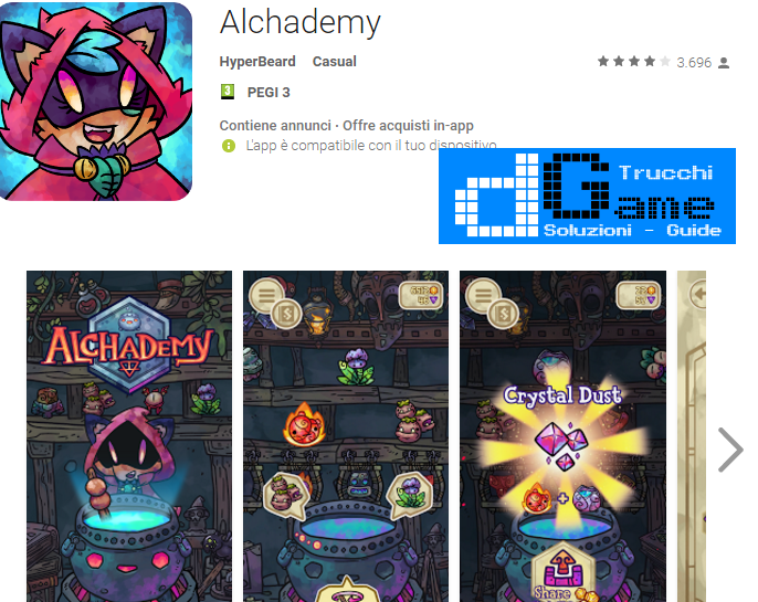 Trucchi Alchademy Mod Apk Android v2.5