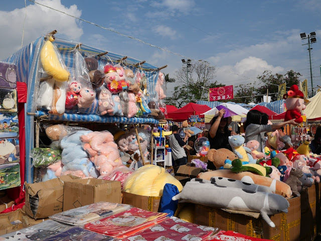 Fa Hui Lunar New Year Fair stall selling stuffed toy animals