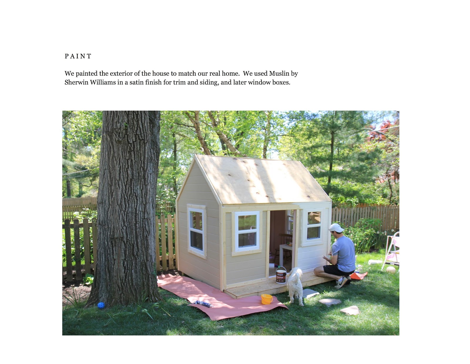 Jenny steffens hobick we built a playhouse diy workbook for Playhouse diy plans