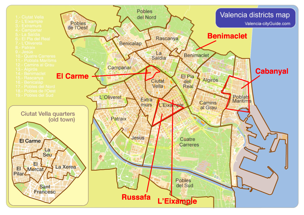 Valencia Map Of Spain.Not Hemingway S Spain Valencia Spain S Third Largest City Part 3