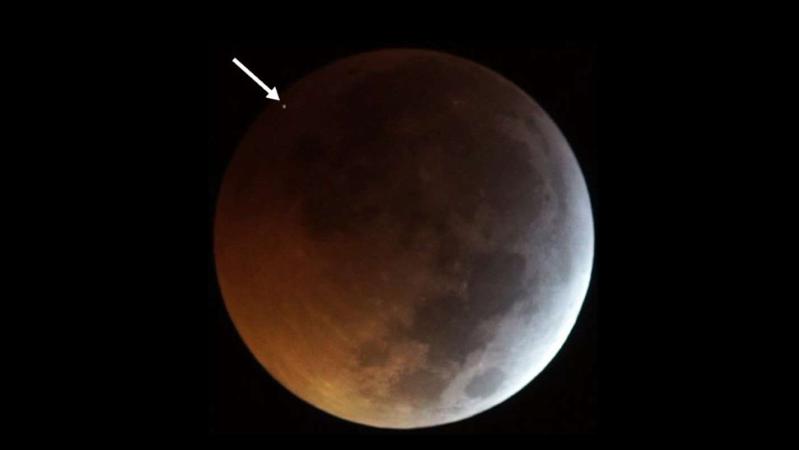 Lua foi atingida