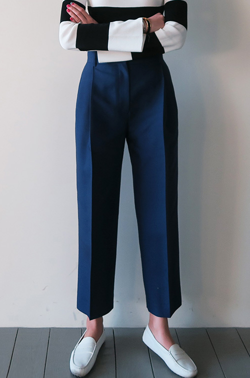 Hook-and-Eye Closure Slacks