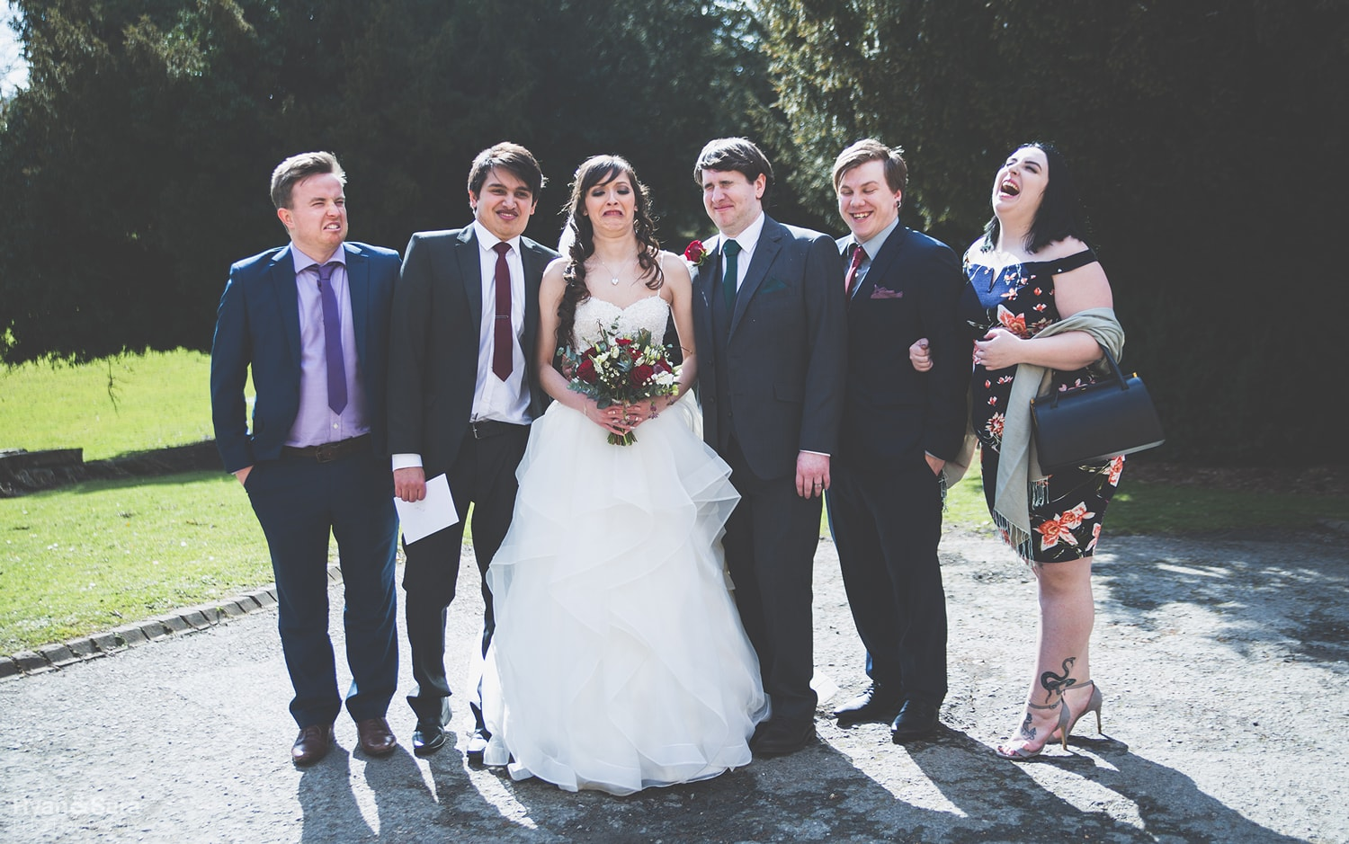 funny wedding faces
