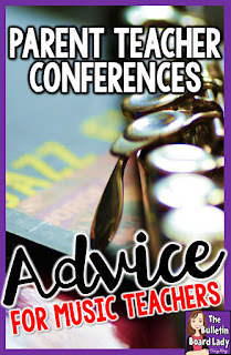 Parent Teacher Conferences-Advice for Music Teachers (and other specialists too!)  How can you prepare for parent teacher conferences?  What do you do if no one ever visits you?  How can you put your best foot forward?  Check out this post for practical ideas for music teachers, other specialists and heck…almost any teacher!