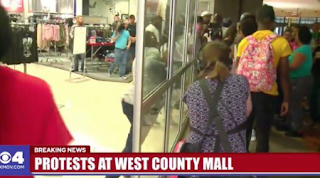 "Protesters Storm St. Louis Mall Chanting ""No Justice, No Profits!"" - Mall Shuts Down (VIDEO)"