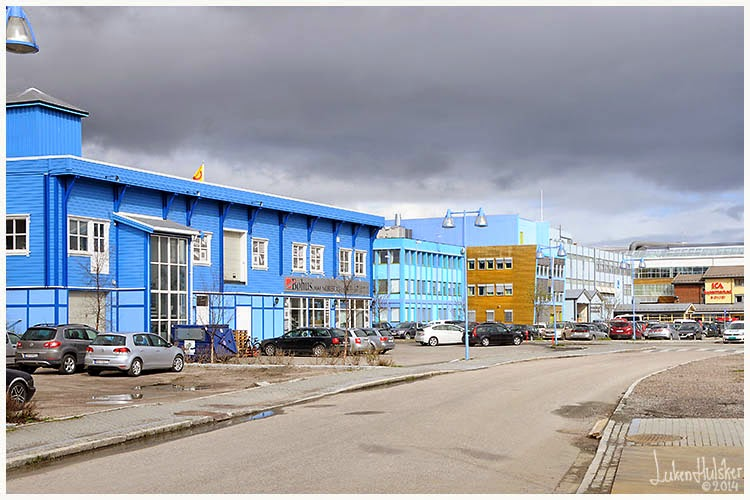 Flott NORGE.nl: Sortland ''blåbyen'' sentrum UK-59