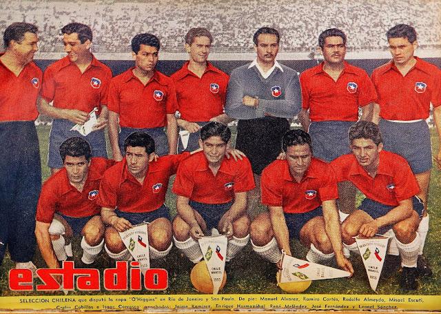 Formación de Chile ante Brasil, Copa O'Higgins 1955, 18 de septiembre