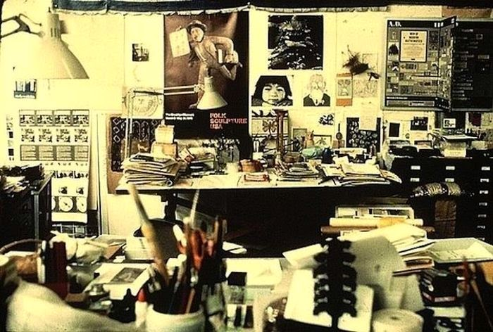 Workspaces Of The Greatest Artists Of The World (38 Pictures) - Ray Eames, designer and artist