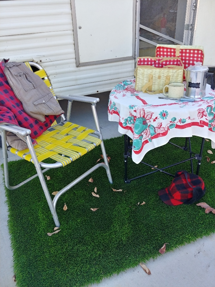 grass rug for camping