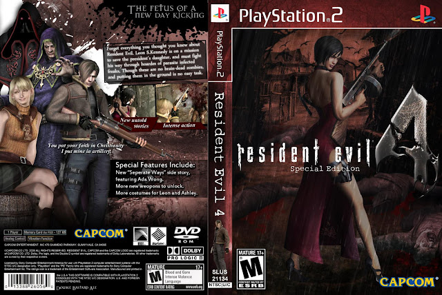 Capa Resident Evil 4 Special Edition PS2