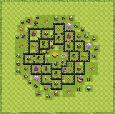 War Base Town Hall Level 8 By Timothy Zaochney (Zangetsu TH 8 Layout)