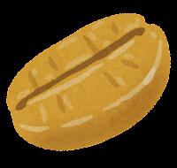 コーヒー豆のイラスト(ライトロースト)