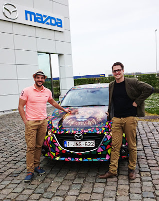 Bert Callens and Ben Heine at Mazda Headquarters