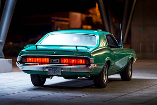 1970 Mercury Cougar Eliminator 428 Cobra Jet Green Rear Picture