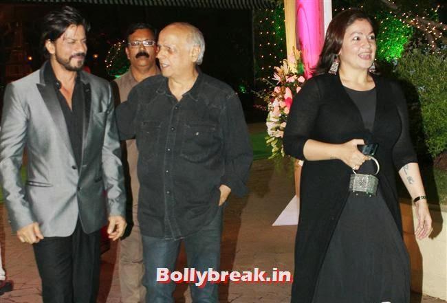 Shah Rukh Khan, Mahesh Bhatt and Pooja Bhatt, Bollywood Babes at Vishesh Bhatt Wedding Reception
