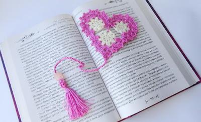 мастер-класс сердечко-закладка крючком