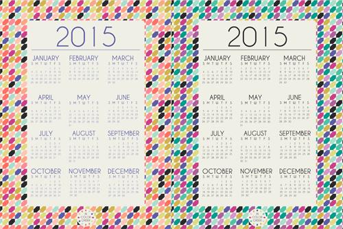 in color order 2015 desktop printable calenders