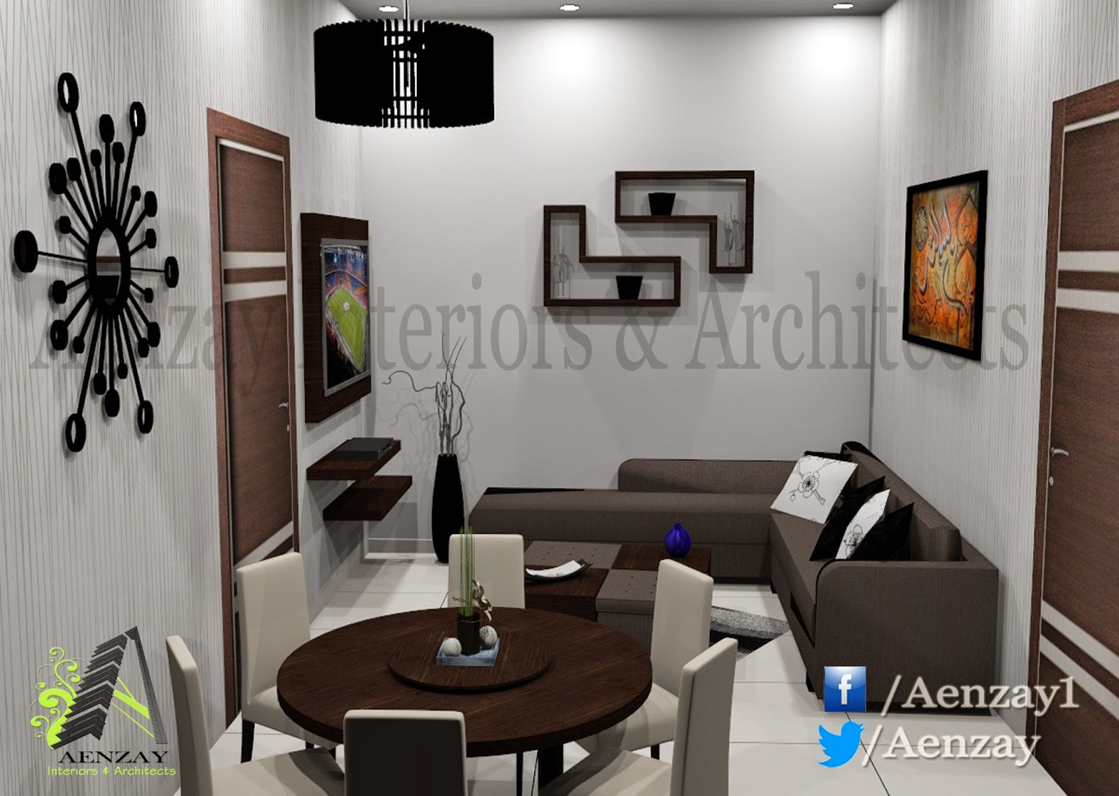 Aenzay Interiors & Architects: Guest House Design