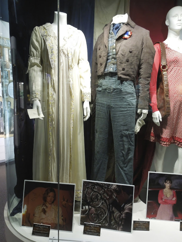 Les Miserables movie costume exhibit