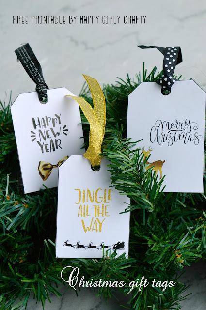 Modern Christmas Gift Tags Free Printable Happy Girly