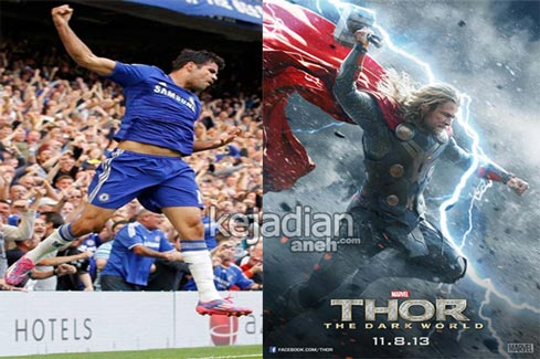 Diego Costa%252C Thor 13 Pemain Bola Terkenal yang Mirip Superhero Marvel