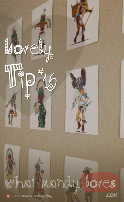 Tip #15: Turn Postcard Collection Into Wall Art via www.whatmandydoes.com