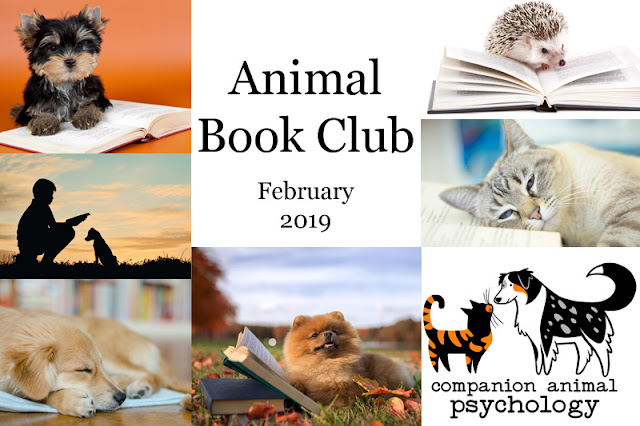 Animal Book Club: Inside of a Dog by Alexandra Horowitz. Photo shows montage of animals and books