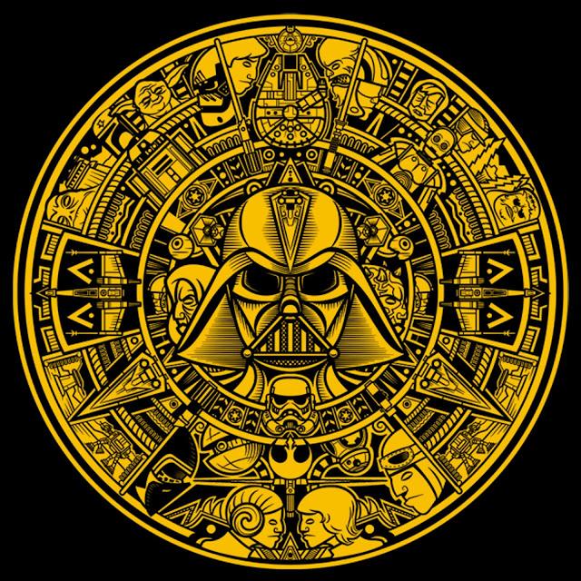 Azteca Wars gold variant tshirt - TeeFury.com