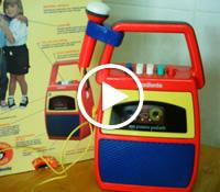 Propaganda do pequeno gravador 'Meu Primeiro Gradiente' nos anos 80.