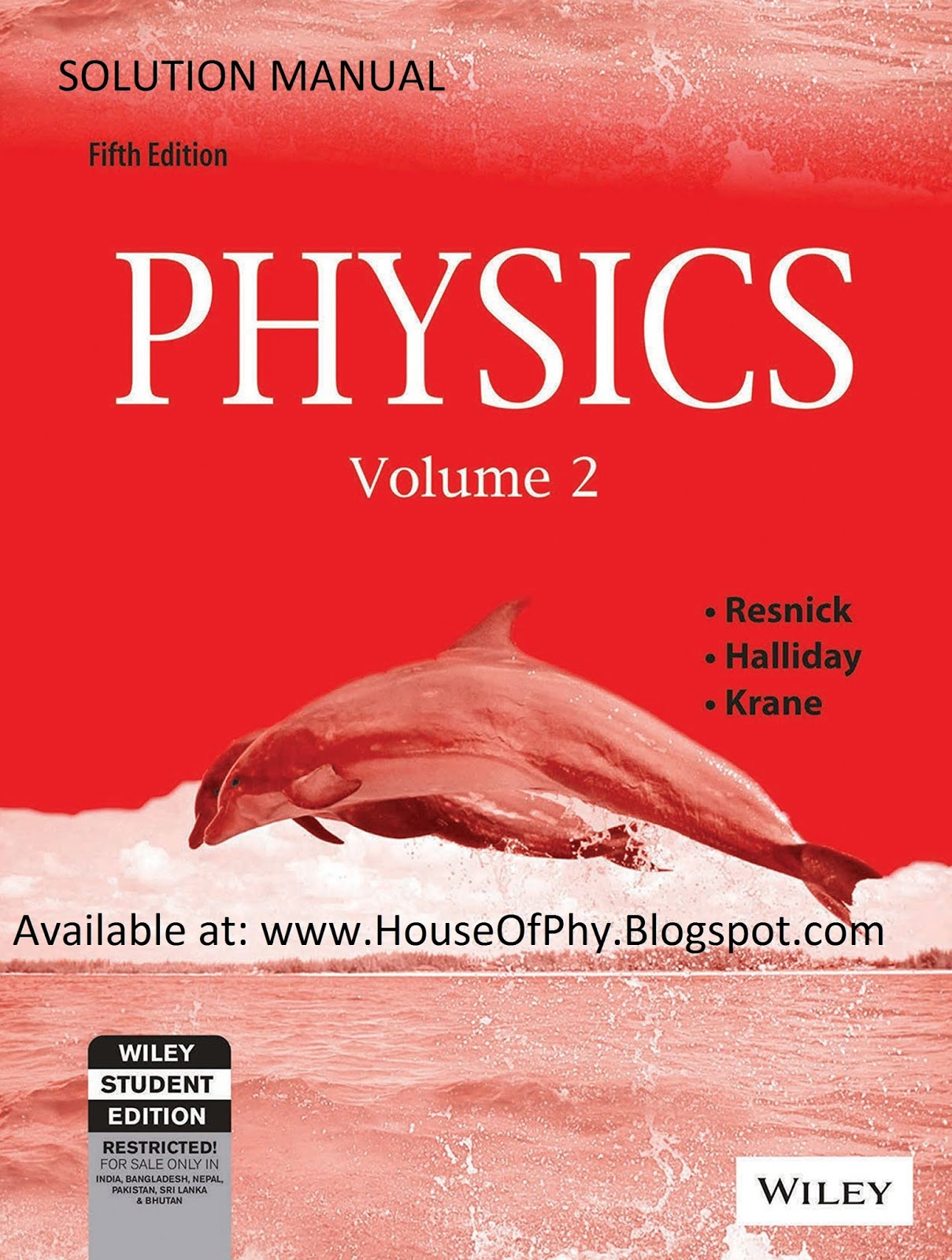Solution Manual of Physics by Halliday, Resnick, Krane Volume 2