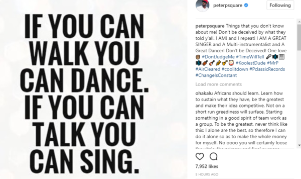 """I-am-a-great-singer,-multi-instrumentalist-and-a-great-dancer"" - Peter-Okoye-claims"