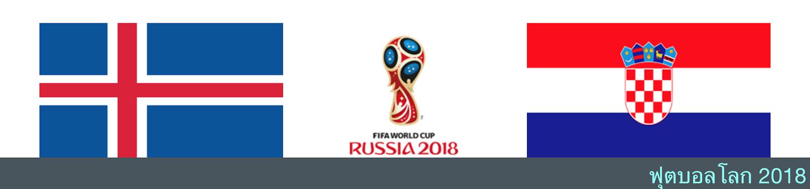 ผลบอล วิเคราะห์บอล ฟุตบอลโลก ระหว่าง ไอซ์แลนด์ vs โครเอเชีย