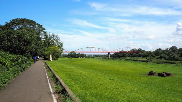 入間川自転車道から荒川自転車道を経由して比企自転車道で物見山へ。越生から日高市を通って入間川へ戻るサイクリングコース