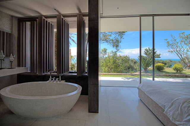Picture of minimalist bathroom with glass walls