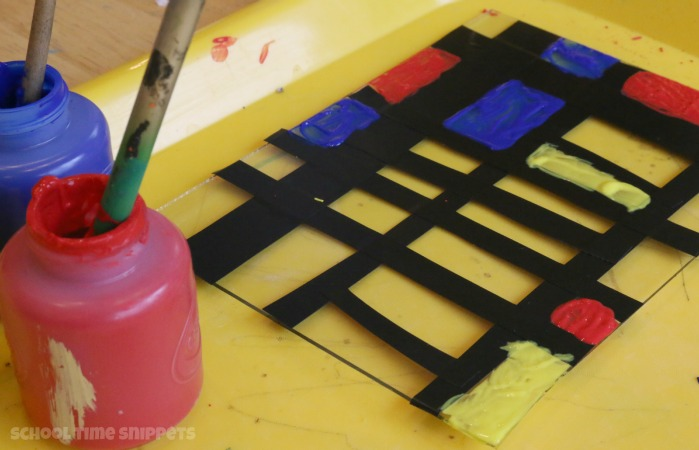 Mondrian Kids Painting