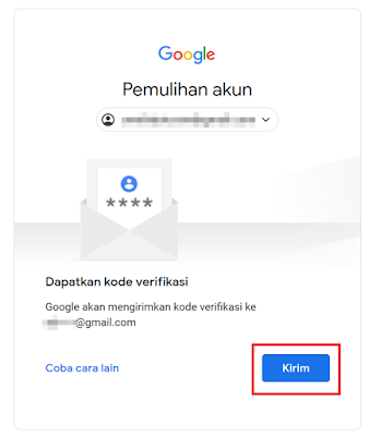 Klik Kirim untuk Dapat Kode Verifikasi